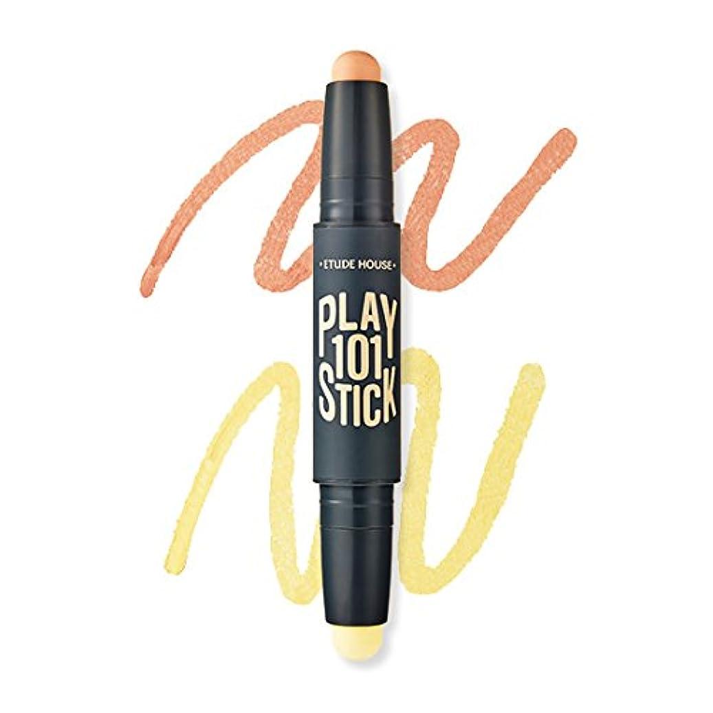 長椅子レビューライセンス[New] ETUDE HOUSE Play 101 Stick Color Contour Duo/エチュードハウス プレイ 101 スティック カラー コンツアー デュオ (#01 Blue Out:Peach Orange...