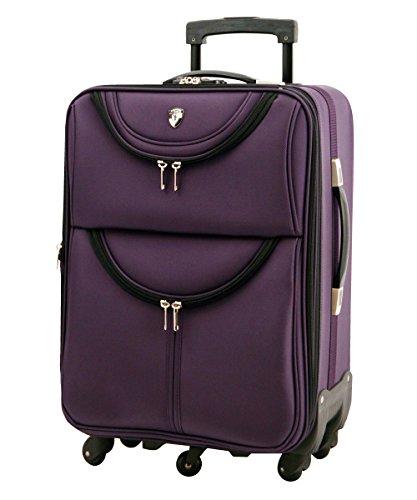 M型 パープル / newFS1538 ソフト スーツケース キャリーケース TSAロック搭載 超軽量(3?5日用)