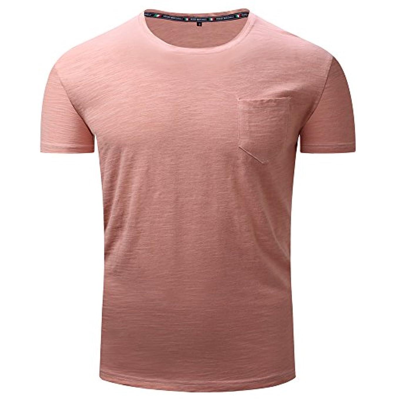 テーマ光景さまようメンズ シャツ Rexzo 純色 吸汗速乾 スポーツシャツ シンプル 機能性 Tシャツ 通気性いい 柔らかい スウェットシャツ 上質 着心地良い トレーニングウェア フィットネス 活動性が良い シャツ 大きいサイズ 日常...