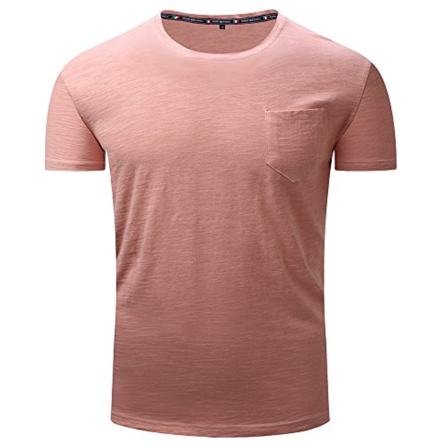 評決着るもつれメンズ シャツ Rexzo 純色 吸汗速乾 スポーツシャツ シンプル 機能性 Tシャツ 通気性いい 柔らかい スウェットシャツ 上質 着心地良い トレーニングウェア フィットネス 活動性が良い シャツ 大きいサイズ 日常...