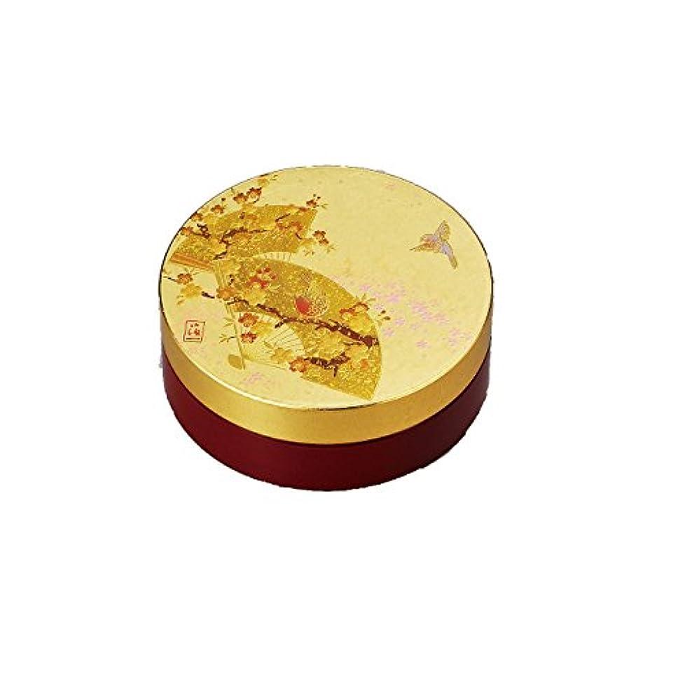 半球落花生地震箔一 うららか 丸朱肉入れ ゴールド 94×94×35mm A123-02005