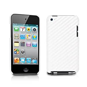 TUNEWEAR 第4世代iPod Touch対応ハードケース CarbonLook for iPod touch 4G ホワイト TUN-IP-000156