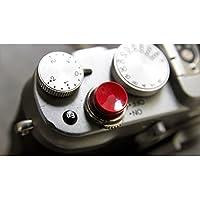 (バシュポ) Pixco シャッター リリース ボタン ・ (フジ)Fujifilm Fuji X-E1 X-Pro1 X10 X20 X100S カメラに対応【2パック】 (凹面, 赤い)