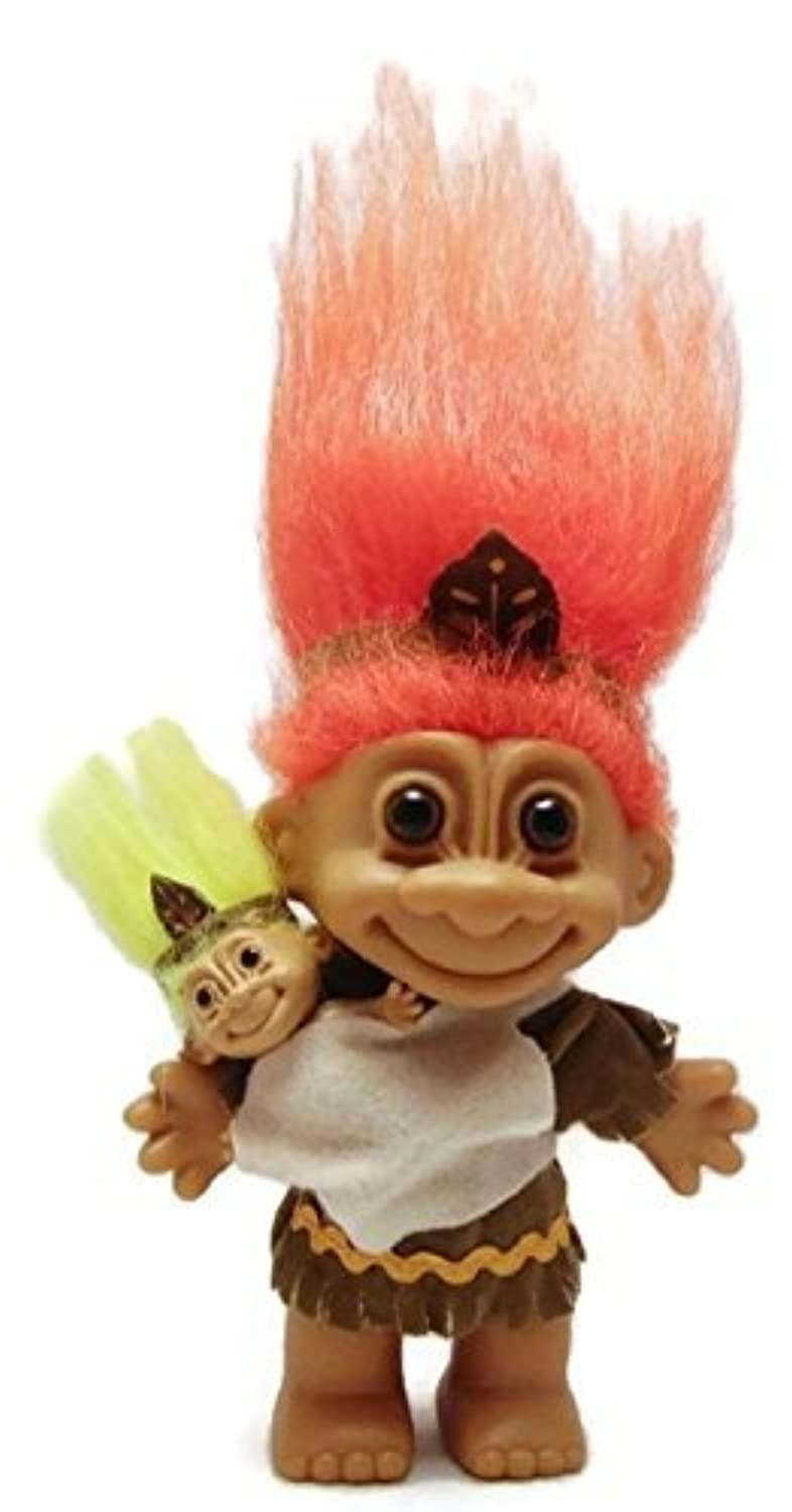 Russ Berrie Harvest Time感謝祭Indian Native American Troll with Baby 6