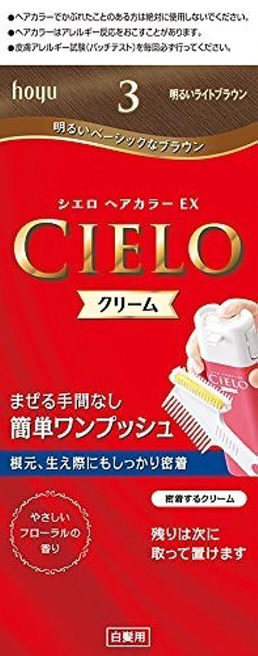 最後のディスカウント線ホーユー シエロ ヘアカラーEX クリーム 3 (明るいライトブラウン) ×6個