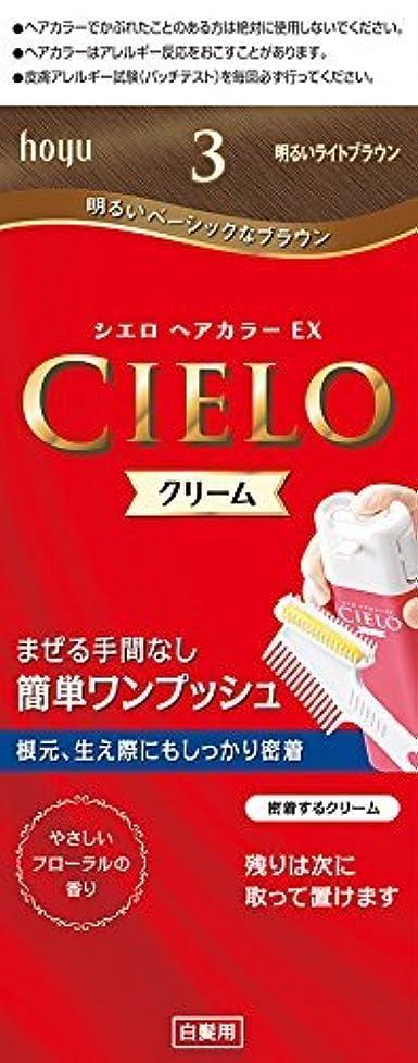 繊維束豊富にホーユー シエロ ヘアカラーEX クリーム 3 (明るいライトブラウン) ×6個