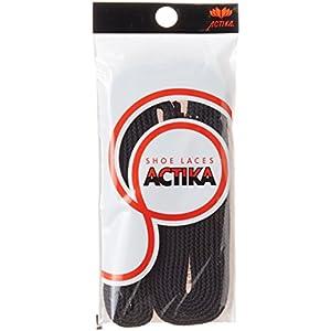 [アクティカ] 靴ひも 石目平スニーカーシューレース ブラック 150cm