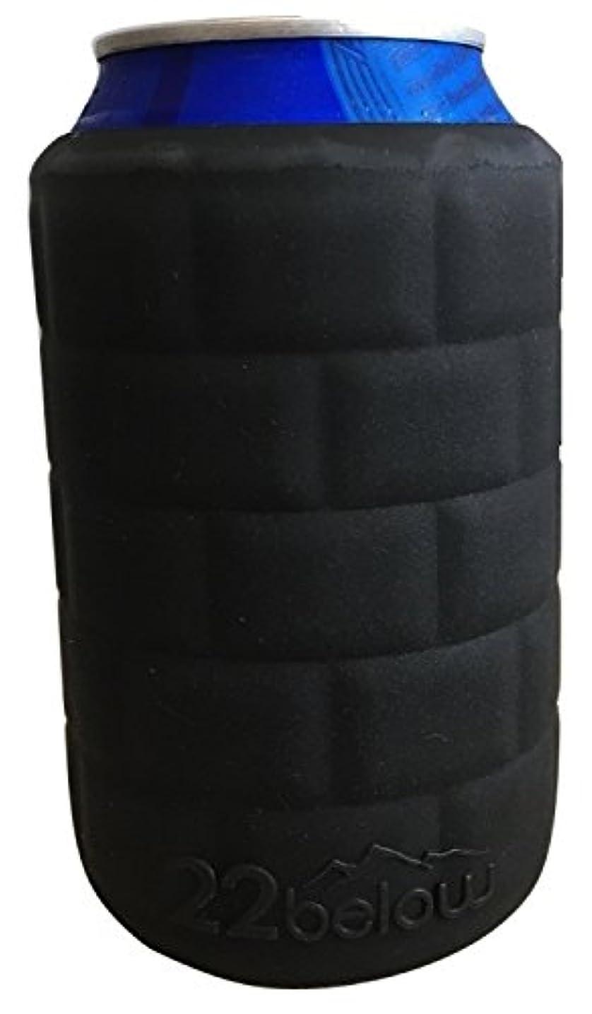 私アンペア木材22below sub-zero : Insulatedイグルー飲料用折りたたみ式軽量シリコンDrink Sleeve that molds to your drink made in the USA ブラック BLK-1