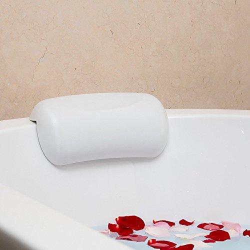 Fypo   お風呂 まくら バスピロー 吸盤 滑り止め付 バスタブ 浴槽 正規品保証 2色選択 (白)