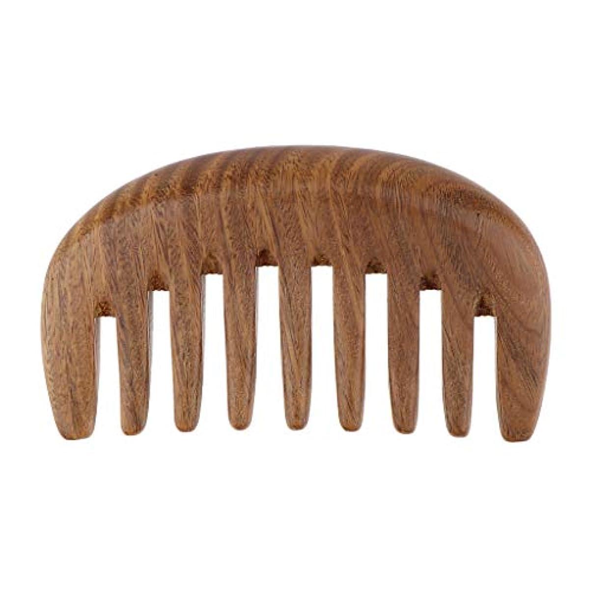 部分的に繊毛通り抜けるヘアブラシ 木製 ヘアコーム ウッドコーム 帯電防止櫛 ヘアケア くし 櫛 3色選べ - ベラウッド