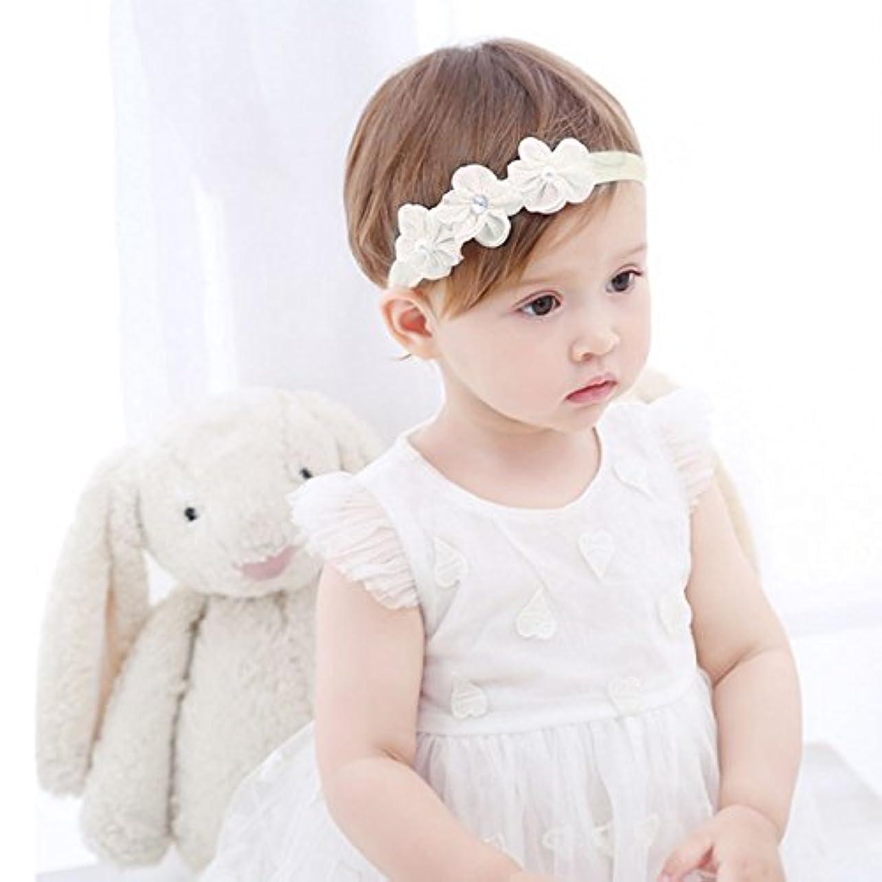征服基本的なハウジングRefaxi 子供の赤ちゃんかわいい幼児のレースの花のヘアバンドヘッドウェアヘッドバンドアクセサリー