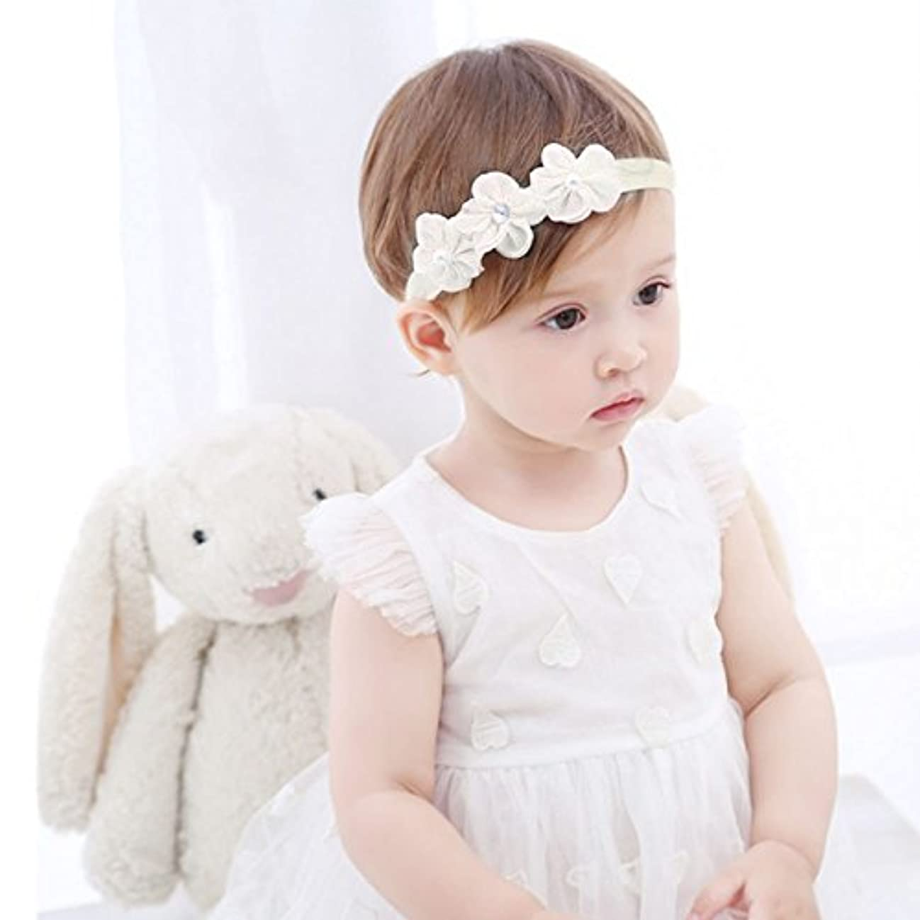 花束午後添付Refaxi 子供の赤ちゃんかわいい幼児のレースの花のヘアバンドヘッドウェアヘッドバンドアクセサリー