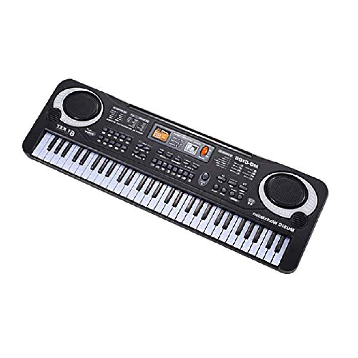 アルバムフローティングイソギンチャクBlackfell 61キー電子音楽キーボード電気オルガン付きマイク子供楽器子供のための早期教育ツール