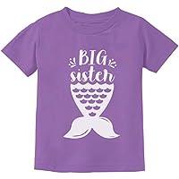 Big Sister Mermaid Shirt Girls Sibling Gift Elder Teen Sis Youth Kids T-Shirt