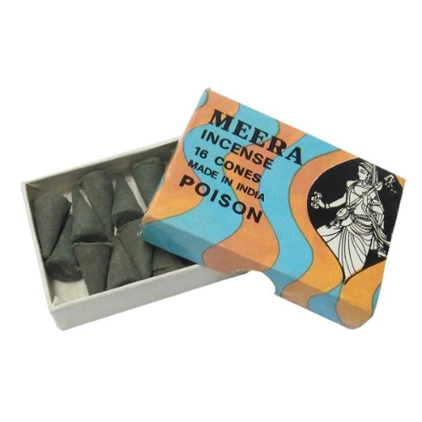 耐久ハンサム過度にポイズンのお香(MEERA) コーン型お香 インド香