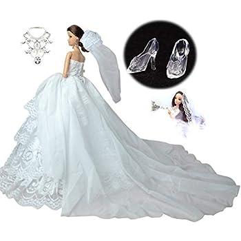 db00cb9645238 憧れの ウェディング ドレス 選べる 各種 セット バービー 人形 用 ジェニー ブライス momoko など 1