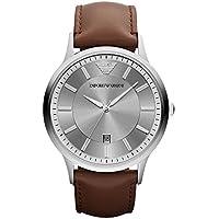 Emporio Armani Men's AR2463 Dress Brown Leather Watch