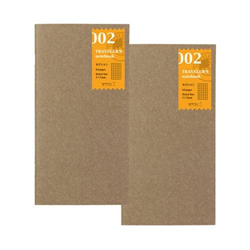 トラベラーズノート traveler's notebook リフィル 2冊パック 方眼 セクション 002 14246006