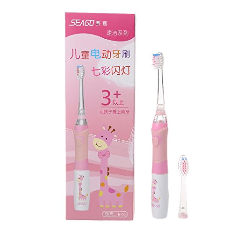 ビジタークーポン伝統的Biuuu 子供のためのSEAGO家族の電動歯ブラシは取り替え可能なスマートなタイマーを防水します (グリーン)
