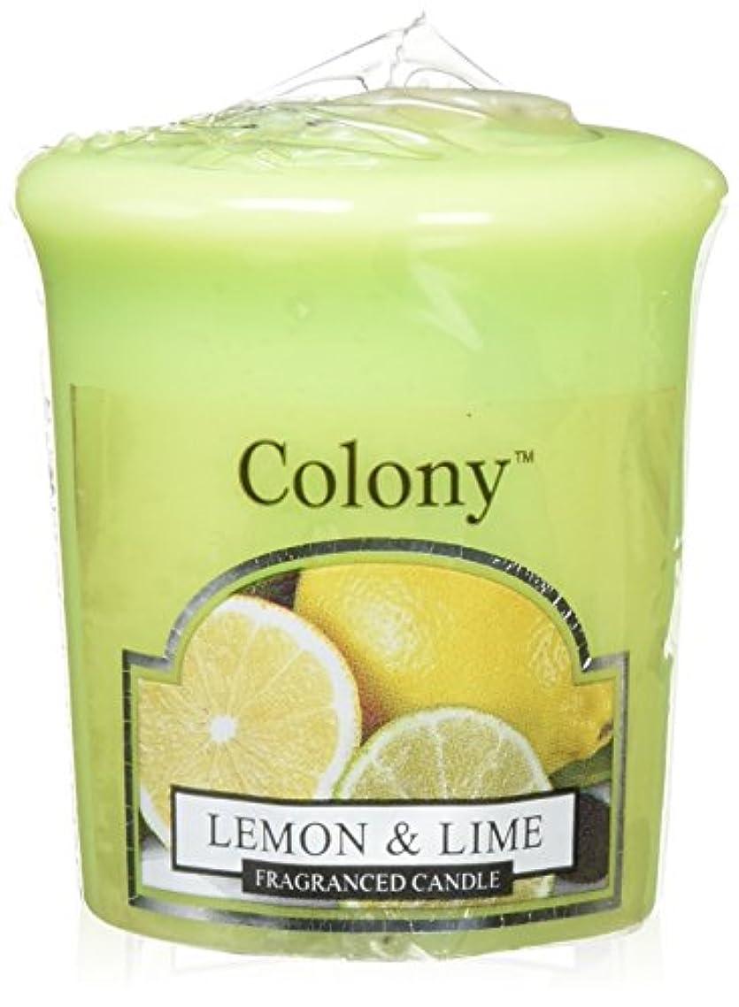 珍しい地中海しつけWAX LYRICAL ENGLAND Colony HomeScents Series センターキャンドル レモン&ライム CNCH0568