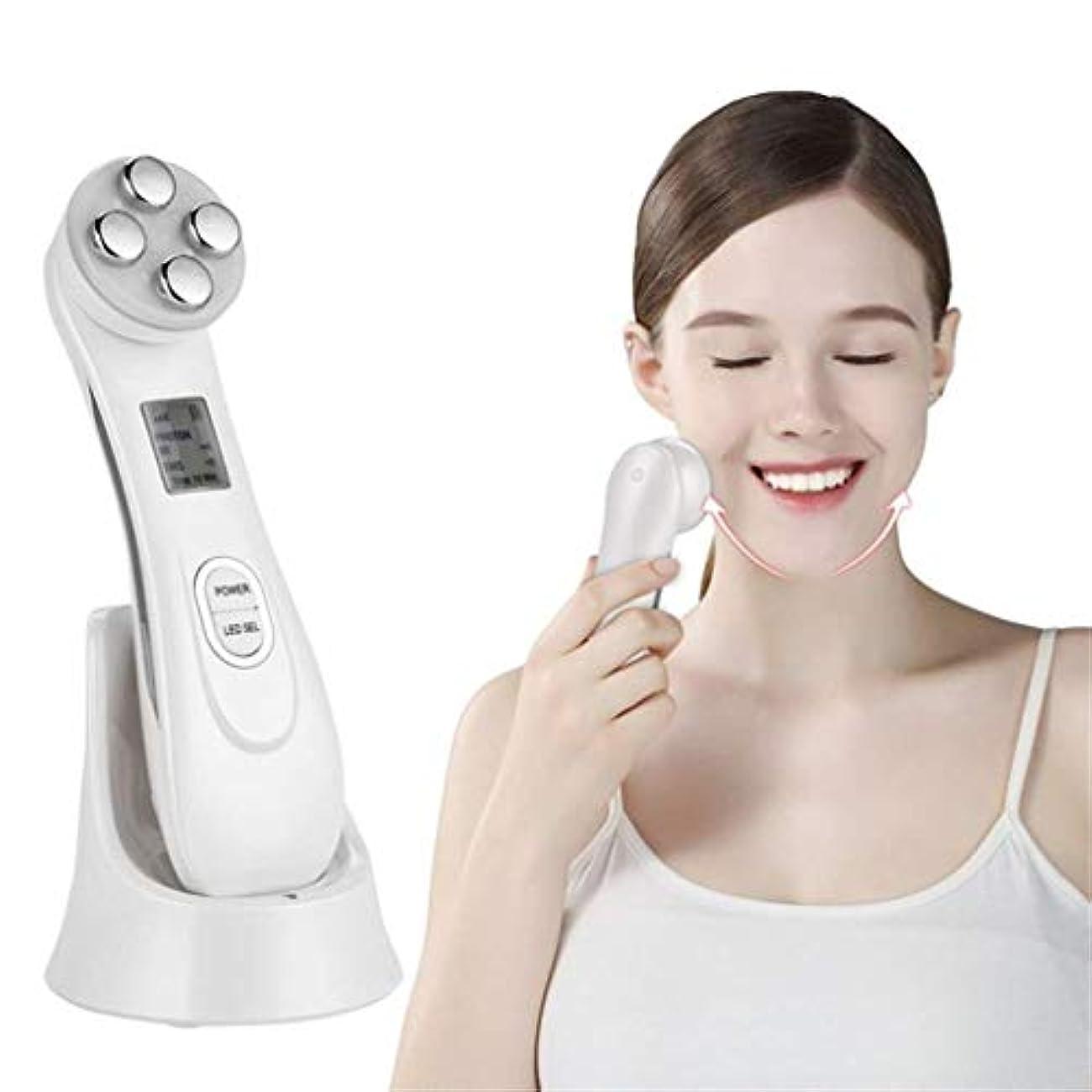 義務付けられたラインナップ違法顔の美のマッサージャー、家の顔の紹介RFの無線周波数の美装置、入れ墨の子供の顔機械を作るLED色ライトしわの持ち上がるおよびきつく締める方法