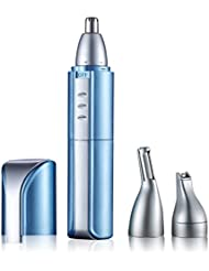 電動鼻毛トリマーメンズトリム鼻毛男性と女性のためのシェーバー鼻、角、ひげ、眉毛などに適しています。,Blue