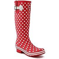 Evercreatures Women's Rain Boots UK Brand Original Tall Rain Boot Gumboots Wellies