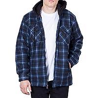 Walnut Creek Mens Fleece Lined Plaid Flannel Jacket