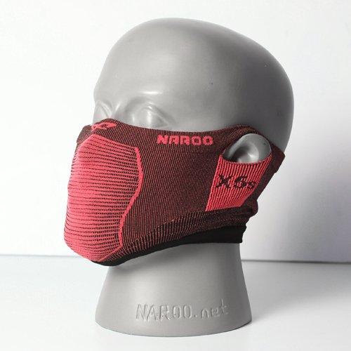 NAROO MASK(ナルーマスク) X5s スポーツマスク フェイスマスク スギ・ヒノキ花粉症対策 UVカット(レッド)