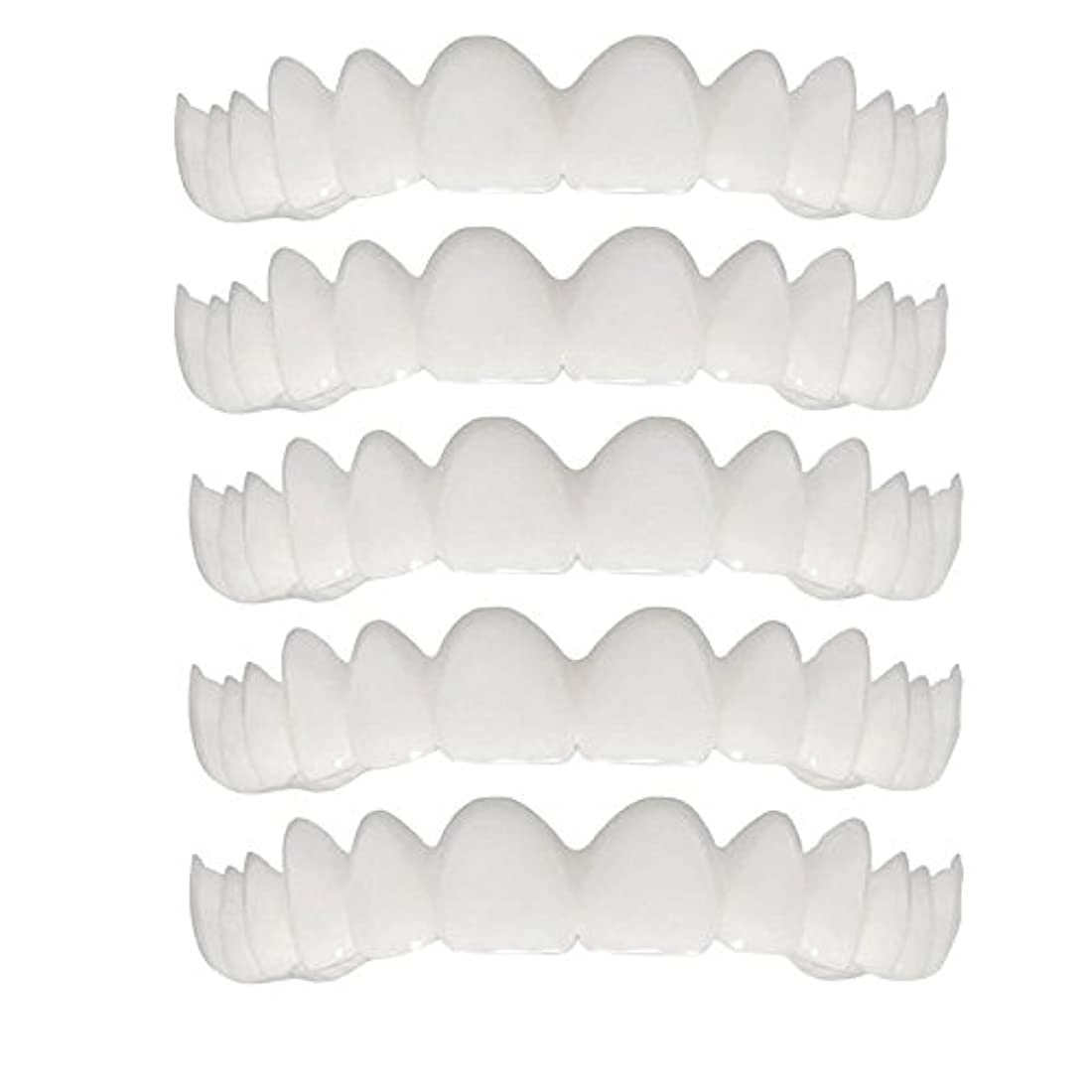 仮定建設線形シリコーンシミュレーション歯ホワイトニングブレース(5個),A