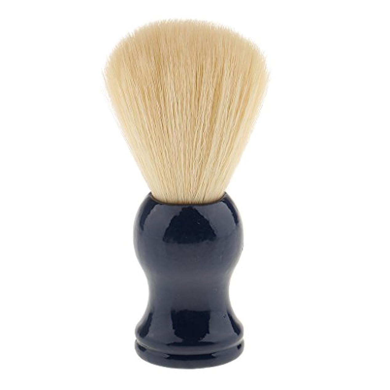 感謝する放射性柔らかさナイロン ひげブラシ シェービング ブラシ 髭 泡立て 散髪整理 理髪用 サロン 快適 美容院