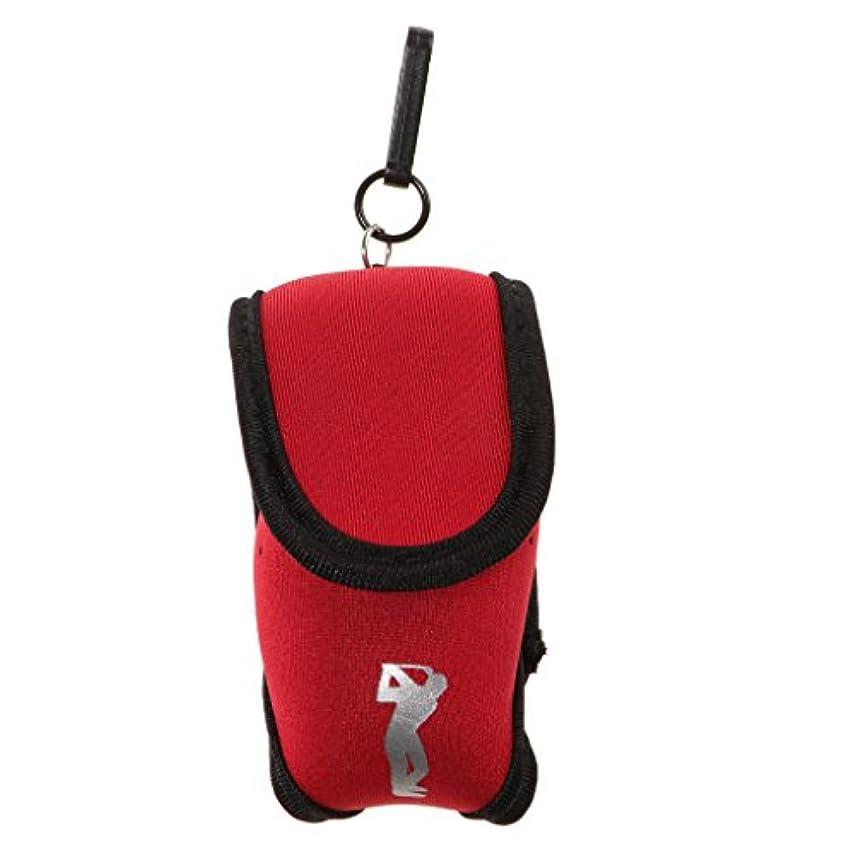 堤防東熟達したSunniMix ネオプレン 携帯便利 ミニ ゴルフボール ホルダーポーチ ボールケース ティーバッグ 全8色