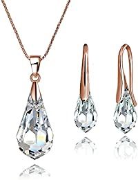 Mestige Jewellery Rose Gold Drop Set with Swarovski® Crystals