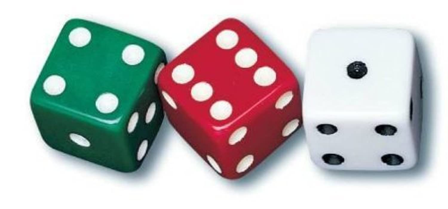 School Smart Dotted Dice - Set of 36 - Assorted Colors by School Smart [並行輸入品]