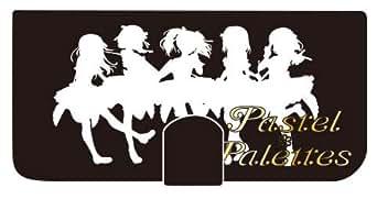 パスパレ シルエット&ロゴ 全機種対応〈白・金〉