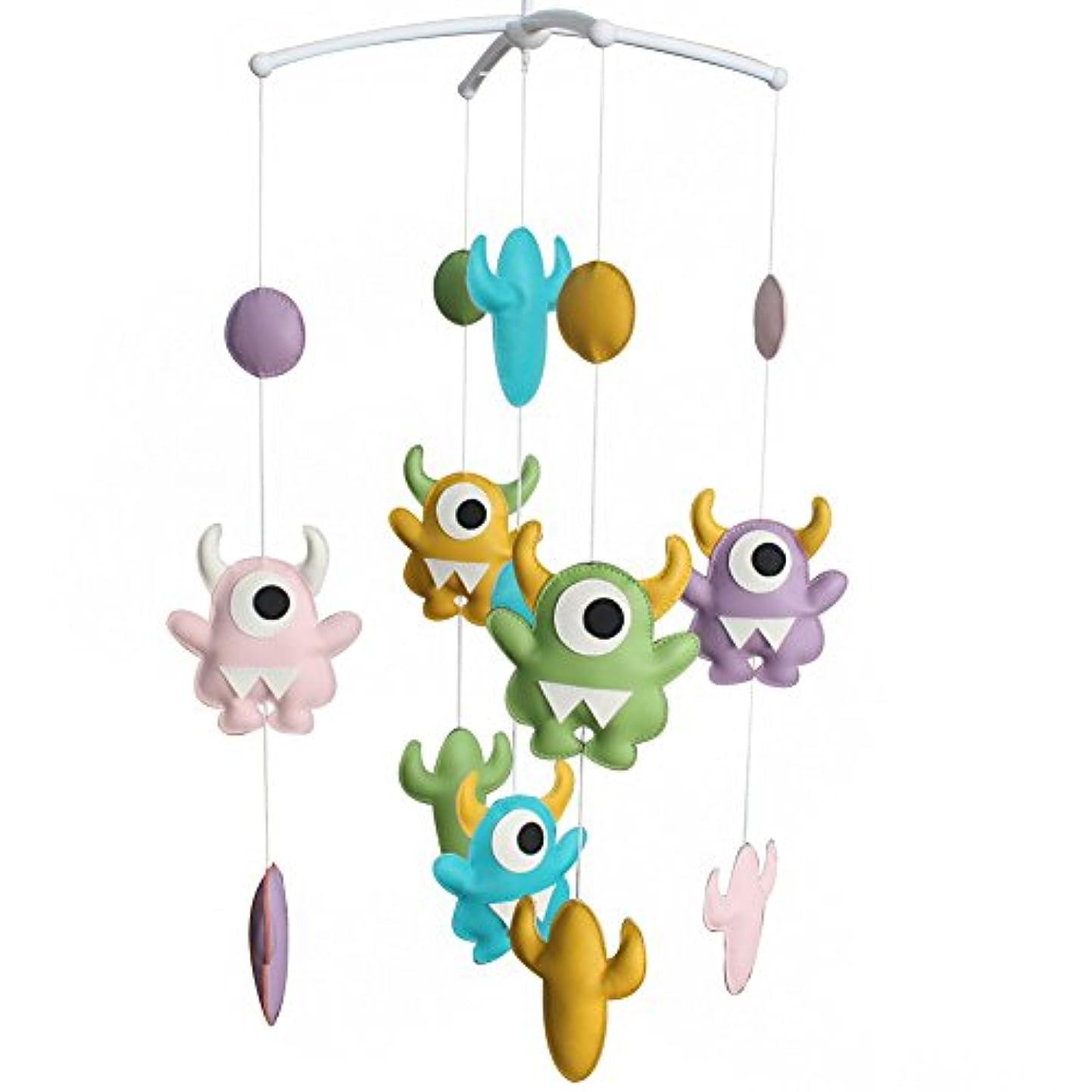 かりて眠り微生物ベッドベルベビーベッドモバイル子守歌ミュージカルモバイルベビーベッド教育玩具新生児保育園の装飾赤ちゃんのおもちゃ-D06