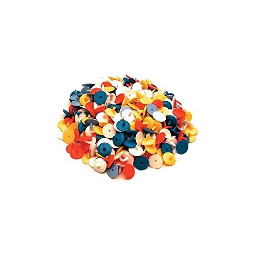 第三パイプそっとFlat Golf Ball Markers 25 ct Assorted Colours Plastic