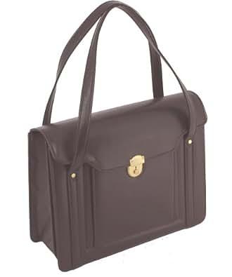 [三栄産業株式会社] 映画「紙の月」宮沢りえさんが着用 S-600渉外鞄レディースビジネスバッグ 被せ式ブリーフケース 豊岡製 書類を折り曲げずに収納 A4ファイル対応