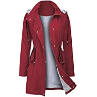 Arthas Women Rain Jacket Waterproof Active Outdoor Trench Raincoat with Hooded Lightweight