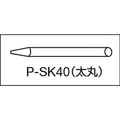 トラスコ中山 TRUSCO 石筆太丸 50本 SK-40 1箱 50本 228-2721