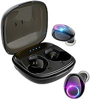 【Bluetooth5.0 500mAh IPX5完全防水】Bluetooth ワイヤレスイヤホン Hi-Fi 完全ワイヤレス イヤホン 自動ペアリング ブルートゥース イヤホン 左右分離型 Siri対応 音量調整可能...