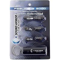 Sound Armor (サウンドアーマー) ear plugs ドュアル スイッチ 16db と 28 db スイッチで切り替え可能 音楽 安眠 遮音 防音 射撃 最強遮音
