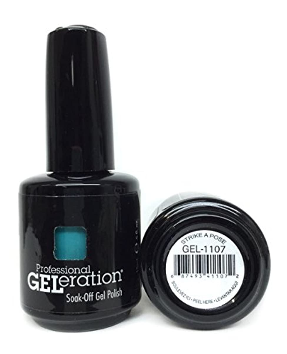 高度解決キャビンJessica GELeration Gel Polish - Strike a Pose - 15ml / 0.5oz