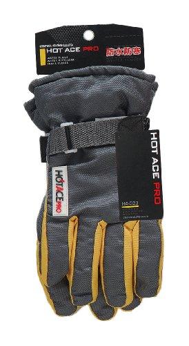 おたふく手袋 防寒防水手袋 ホットエースプロ 厚手保温 マジックベルトタイプ LL HA-323