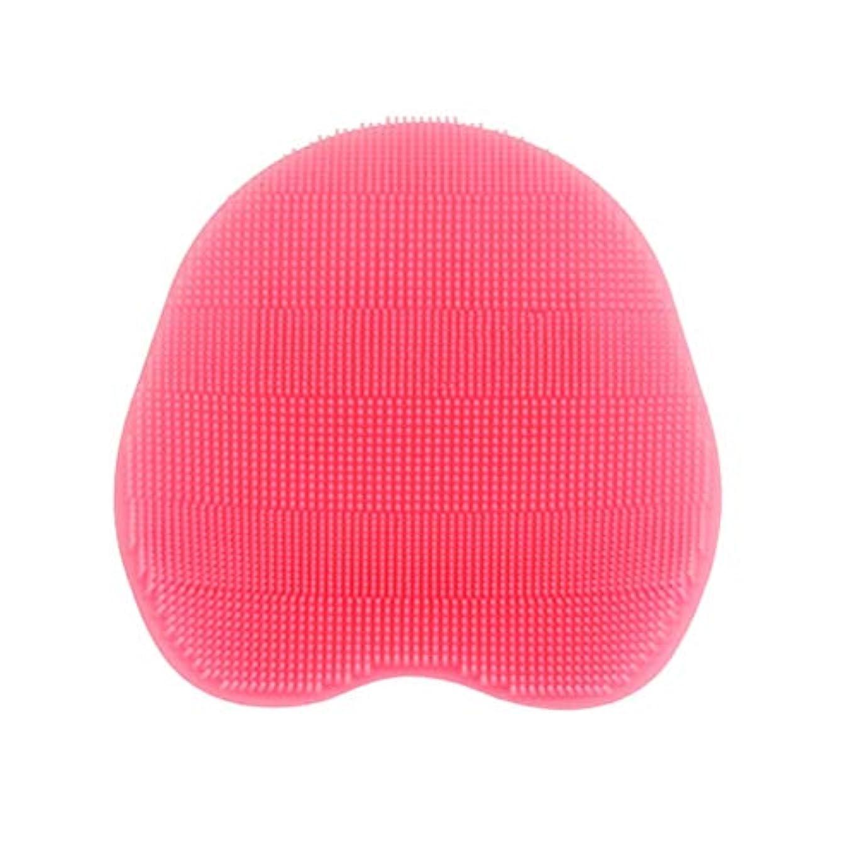 機械伝染性明確なHealifty シリコンフェイシャルブラシ幼児ベビーブラシマッサージ入浴ブラシマッサージクリーニングバスルームツール(ピンク)
