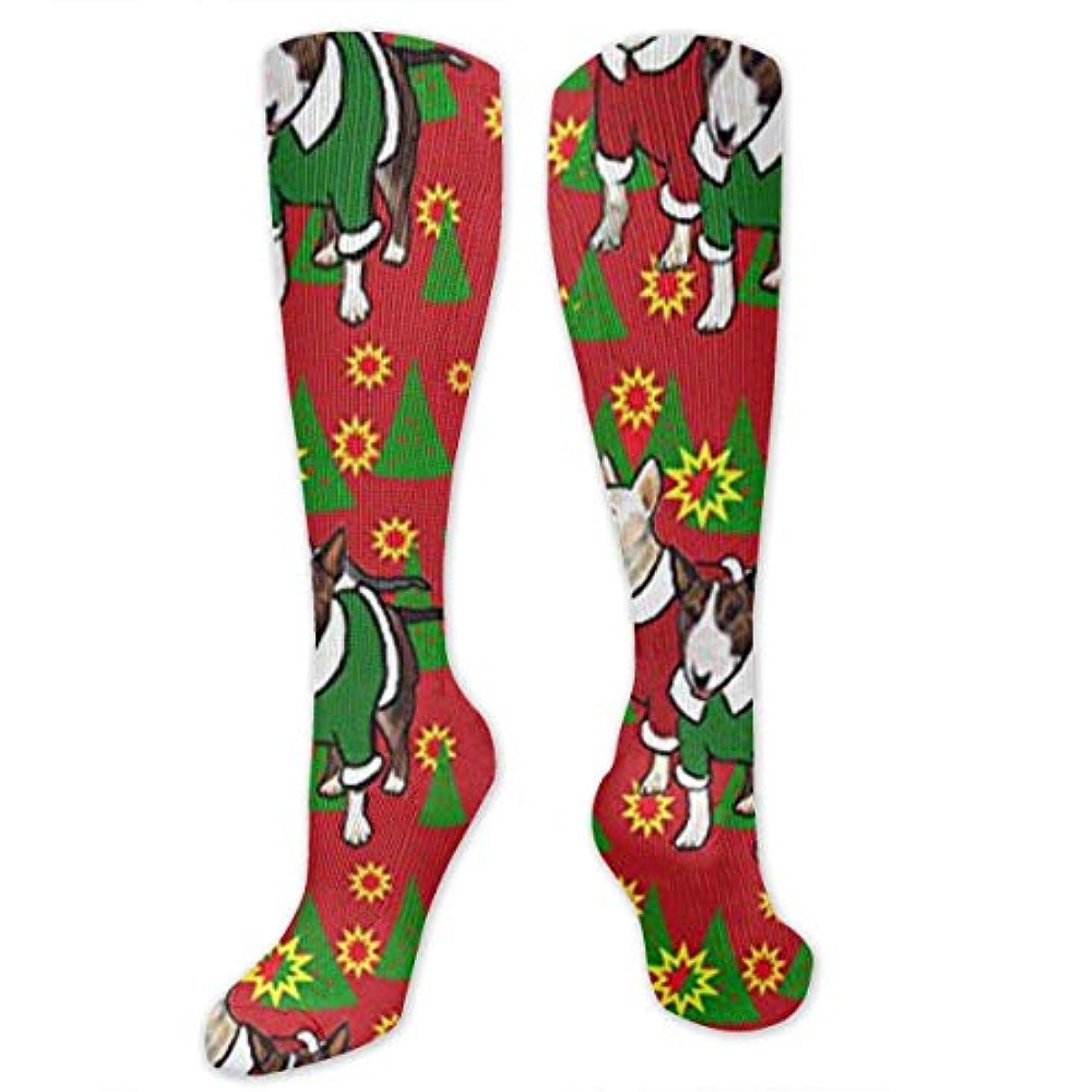欠伸タヒチ悪性靴下,ストッキング,野生のジョーカー,実際,秋の本質,冬必須,サマーウェア&RBXAA Christmas Bull Terriers Socks Women's Winter Cotton Long Tube Socks...