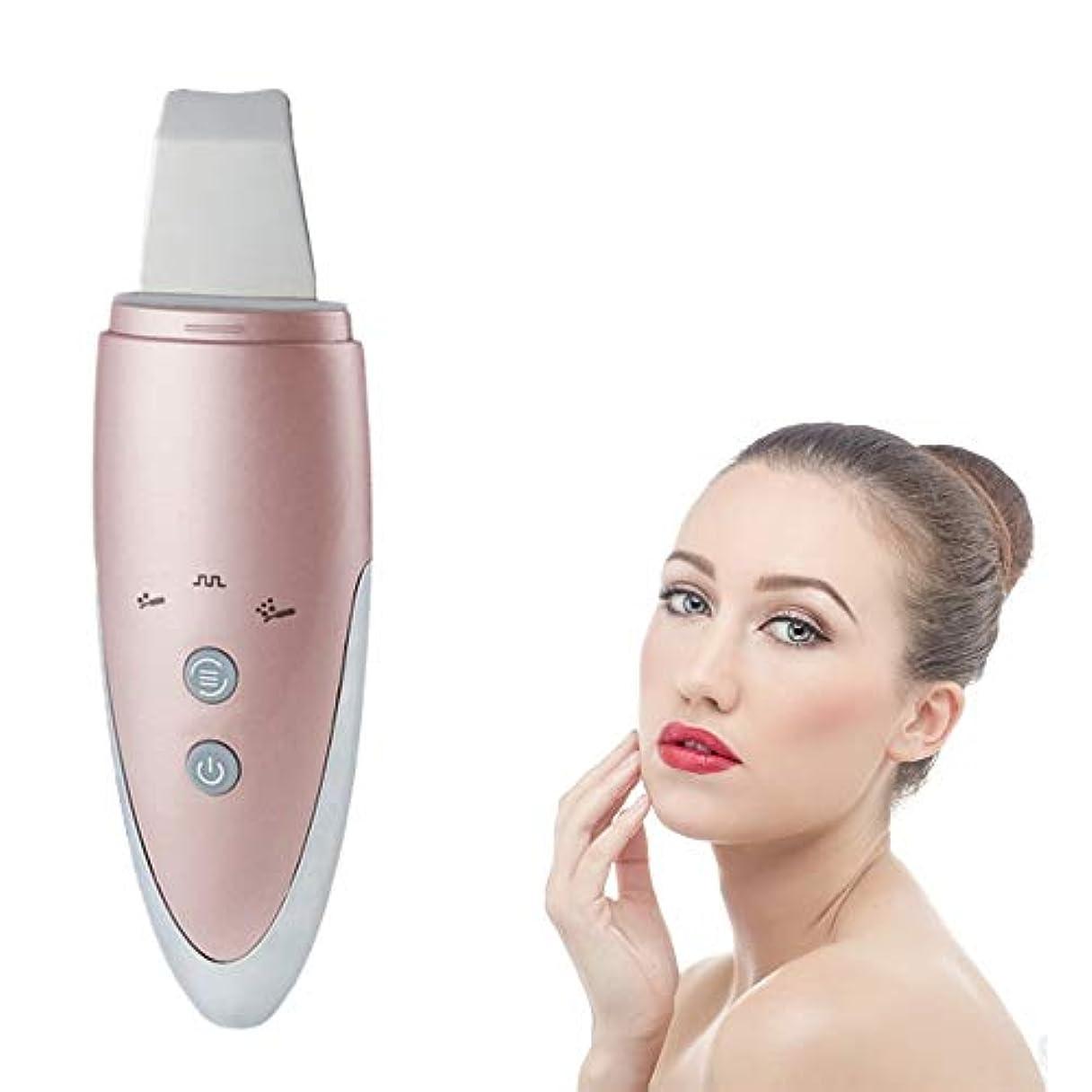 かび臭いだます技術的な顔の皮膚スクラバーエレクトリックフェイス超音波クリーナーブラックヘッドリムーバーイオンはクリーナーリンクルリムーバーUSB充電式スキンマッサージスクラバーEMSケアエクスフォリエーター?フェイシャルリフティングツールを毛穴