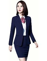 SHUNYI パンツスーツ レディース スカートスーツ セットアップ 2点セット OL オフィス 就活 ビジネス 通勤 セットスーツ フォーマル 大きいサイズあり 通勤