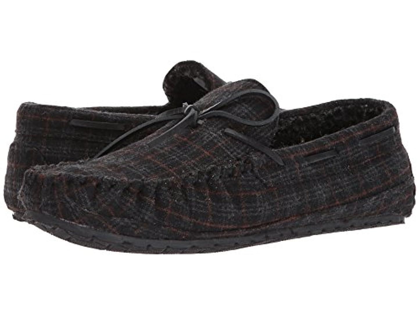 財団ブランド実際(ミネトンカ) MINNETONKA メンズローファー?スリッポン?靴 Casey Charcoal Plaid 8 (26cm) M