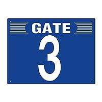 【305-302】ゲート表示板 GATE 3 ヨコ